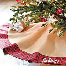 fringed burlap tree skirt ballard designs