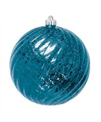 mercury round swirl ornaments