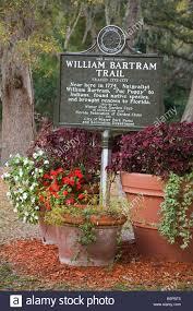 william bartram trail sign mead garden winter park orlando florida