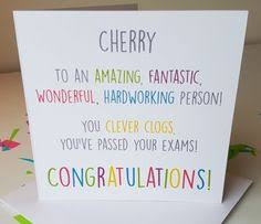handmade contemporary congratulations card 3 60 pass