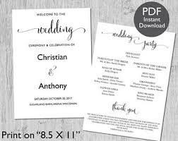 christian wedding program templates wedding program template wedding program printable we do