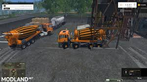 nbm man tga 8x8 hkl concrete mixer mod for farming simulator 2015