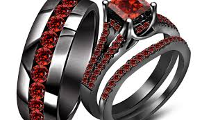 wedding rings trio sets for cheap ring valuable real wedding ring sets for cheap