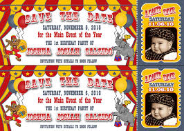 pretty witty designs circus birthday party tickets