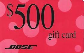 500 dollar gift card gift card gift card 500 bose united states of america bose
