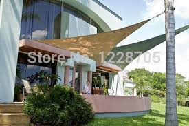 Triangle Awning Canopies Free Shipping 4 Colors In Stock 3 3 3m Triangle Waterproof Garden