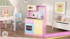 kidkraft island kitchen kidkraft fun pastel play kitchen youtube