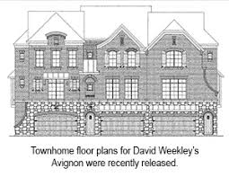 david weekley homes releases townhome floor plans for avignon in