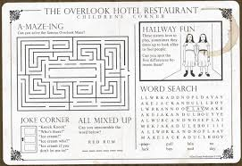 the overlook hotel restaurant children u0027s corner placemat by shane