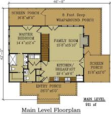 mountain cabin floor plans cottage house plan with wraparound porch by max fulbright