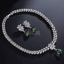 emerald necklace sets images Famous brand style luxurious very high quality zircon jewelry set jpg