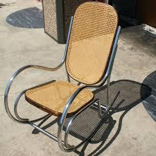 Rocking Chair Tab Vintage Tubular Chrome Rocking Chair