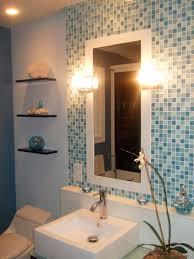 Interior  Decor With Kitchen Backsplash Glass Tile Blue  Blue - Backsplash trim strips