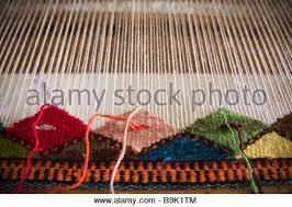 Zapotec Rugs Mexico Oaxaca Teotitlan Del Valle Couple Displays Their Stock