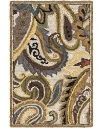 Paisley Area Rug Amazing Deal On Surya Centennial Cnt1081 Green Neutral Floral And