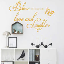compare prices on family quotes online shopping buy low price bless this home with love and laughter family quotes wall sticker living room wall decal removable