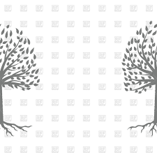 half tree silhouette royalty free vector clip image 101115