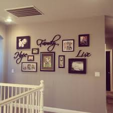 gallery wall greige walls black doors home decor living room