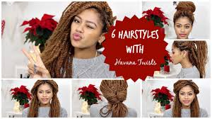 havana twist hairstyles 6 different hairstyles with havana twists tasha green youtube