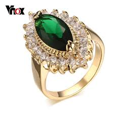 aliexpress buy vnox 2016 new wedding rings for women vnox women s wedding engagement rings big rings for