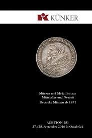 künker auktion 281 münzen und medaillen aus mittelalter und