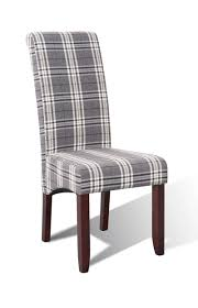 Esszimmer Sessel Grau Sam Esszimmer Stoff Stuhl 4712 28 Grau Kariert Kolonial