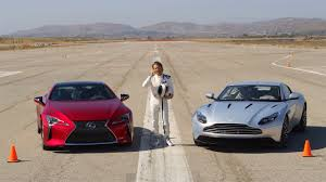 lexus lc twin turbo lexus lc 500 vs aston martin db11 u2013 the amci track test youtube
