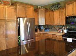 unique corner upper kitchen cabinets with french door refrigerator