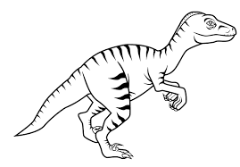 free dinosaur velociraptor coloring pages kids classroom