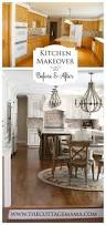 before and after kitchen makeover cottage