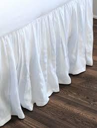 White Ruffle Bed Skirt Lark Manor Bugrane Voile 18
