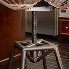 dining room amazing industrial metal stools copper bar stools