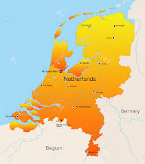 The Netherlands Map Map Of The Netherlands Stock Photos Royalty Free Map Of The