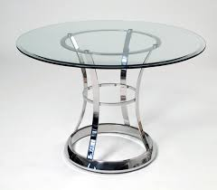 simple stainless steel dining table on small villa remodel ideas