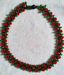 free pattern for necklace spring flowers beads magic free