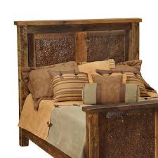 Barn Wood Headboard Shop Fireside Lodge Furniture Barnwood Full Headboard At Lowes Com