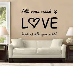 amazon com all you need is love the beatles large wall decal amazon com all you need is love the beatles large wall decal sticker home decoration decor home kitchen