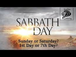 what day is the sabbath day sunday or saturday does it matter