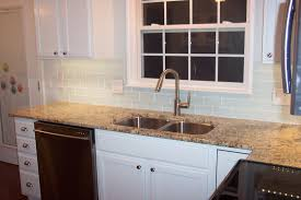 Carrara Marble Subway Tile Kitchen Backsplash by Kitchen Style White Marble Countertop Chrome Knobs Awesome