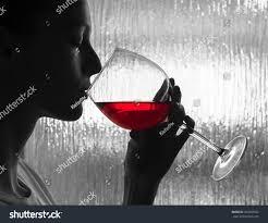 woman drinking glass wine stock photo 454969552 shutterstock