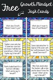 Challenge How Does It Work Free Growth Mindset Task Cards To Help Teach About Perseverance