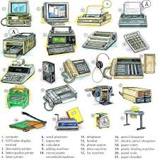 office equipment vocabulary english lesson