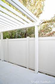 Attaching Pergola To House by Build A Patio Pergola Attached To The House A Houseful Of Handmade