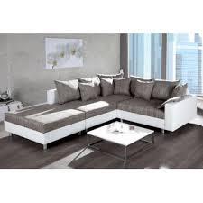 canap d angle blanc et gris d angle design modulable loft blanc gris