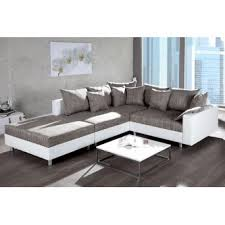 canapé angle blanc canapé d angle design modulable loft blanc gris