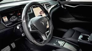 Tesla Carbon Fiber Interior Tesla T Sportline Leather Design Interior Black Youtube