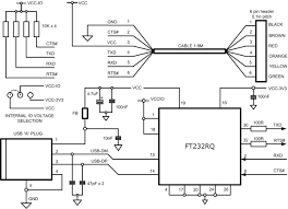 ftdi cable schematic usb to 3 3v ttl pin header cable with ftdi