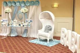 baby shower chair decorations blue and white elephant themed baby shower baby shower ideas