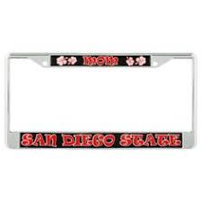 sdsu alumni license plate alumni license plate frame and black metal license plate frame