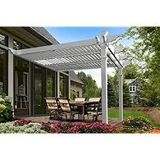 Large Brick Patio Design With 12 X 16 Cedar Pergola Outdoor by Amazon Com Regency 12 U0027 X 12 U0027 Vinyl Pergola Arbors Garden